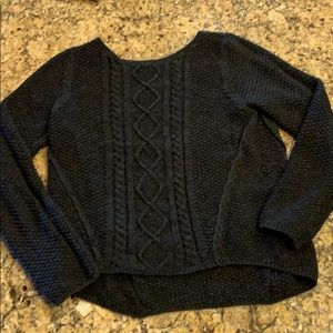 Sweater Cable Ribbed Cropped Boxy Sweater …